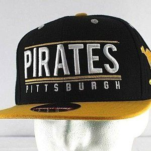 Pittsburgh Pirates Black/Yellow Baseball Cap Snapb